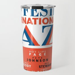 Vintage 1949 Paris International Jazz Festival Poster Travel Mug