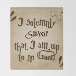 I Solemnly Swear That I'm Up To No Good Throw Blanket