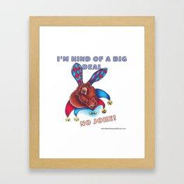 Rabbit Joke Framed Art Print