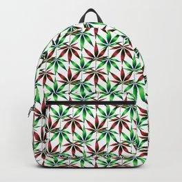 WEED LOVE, BURGUNDY RED GREEN Cannabis Smoke Marijuana Backpack