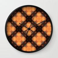 darren criss Wall Clocks featuring Criss Cross by Lyle Hatch
