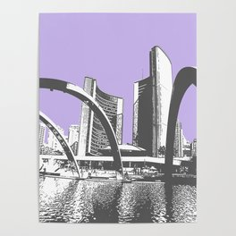 Toronto City Hall, Nathan Phillips Square. Ontario, Canada. Poster