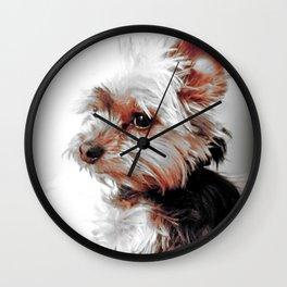 Yorkie | Dog | Dogs | Bad Day eh? | Nadia Bonello Wall Clock