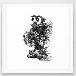 Hoodeyes Framed Art Print