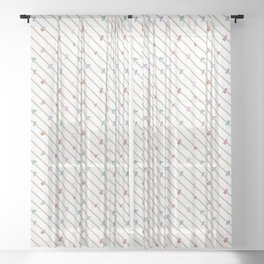 Striped Terrazzo II Sheer Curtain