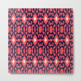 esperanza - minimal - coral + navy Metal Print