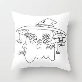 Impatient Ghosty Throw Pillow