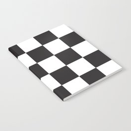 Black and White Checkered Pattern Notebook