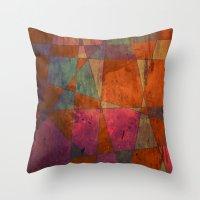 baroque Throw Pillows featuring Baroque Cubism by Tony Vazquez