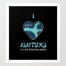 i love kintsugi Art Print