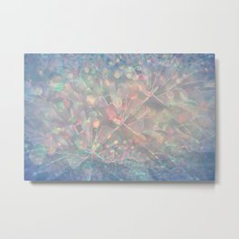 Sparkling Crystal Maze Abstract Metal Print