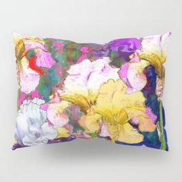 Yellow & Purple Spring Red Iris Garden Pillow Sham