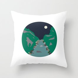 Peaks and Troughs Throw Pillow