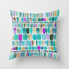 DASHED Colorful Tribal Watercolor Throw Pillow