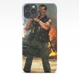 iphone 11 max power shoot schwarzenegger commando iPhone Case