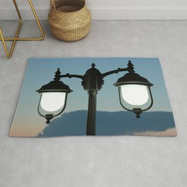light in the darkness Rug