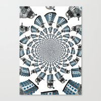 dalek Canvas Prints featuring Dalek by Natasha Lake