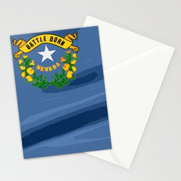 Nevada Fancy Flag Stationery Cards