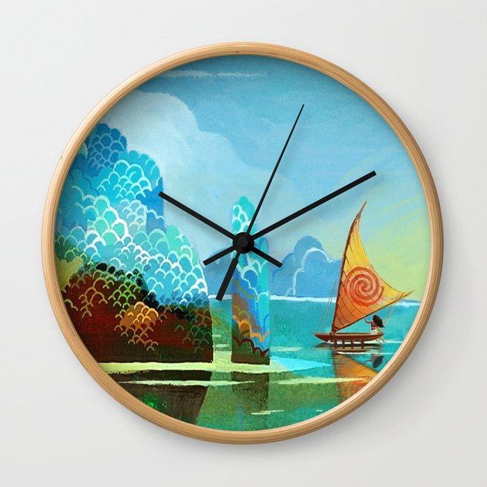 Moana lagoon Wall Clock