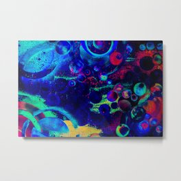 Bright Colorful Surreal Splash Painting Space Pattern Metal Print
