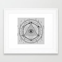 illuminati Framed Art Prints featuring Illuminati by Joao Paulo Cruz