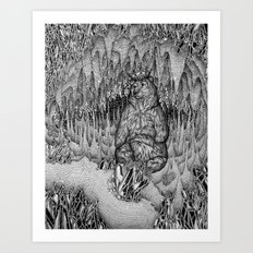 Cave of the Bear King Art Print