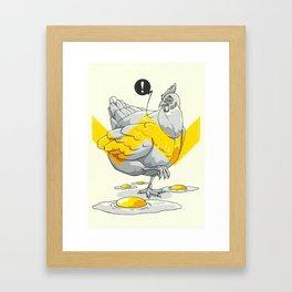 Chicken in the kitchen Framed Art Print