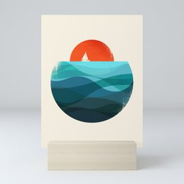 Deep blue ocean Mini Art Print