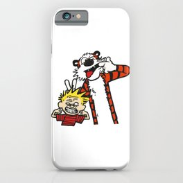 Calvin and Hobbs BFF iPhone Case