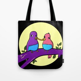 Bird and the tramp Tote Bag