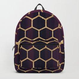 Purple Fusion Hexagon Pattern Backpack