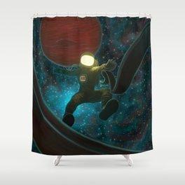 Cosmonaut: Untethered Shower Curtain