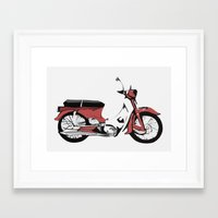 motorbike Framed Art Prints featuring Motorbike by Ryan Ly