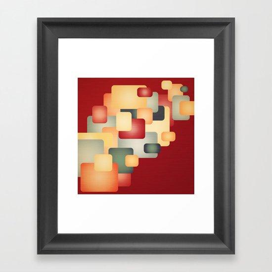 A Warm Retro Feeling. Framed Art Print