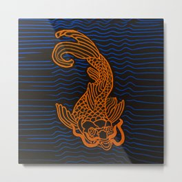 Koi Fish Going Apeshit Metal Print