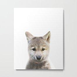 Wolf Print by Zouzounio Art Metal Print