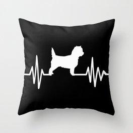 Cairn Terrier frequency Throw Pillow