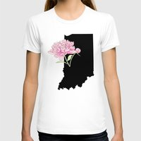 indiana T-shirts featuring Indiana Silhouette by Ursula Rodgers