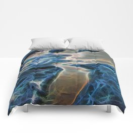 Abstract rock pool and sand on a beach Comforters