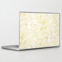 zodiac Laptop & iPad Skins featuring White Zodiac by Nina Y