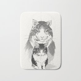 My cat Cloud Bath Mat