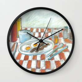 All American Breakfast 2 Wall Clock