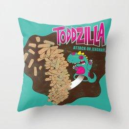 TODDZILLA –ATTACK ON JENGHAI! Throw Pillow