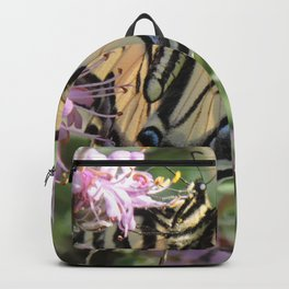 Western Tiger Swallowtail on Lemon Blossoms Backpack