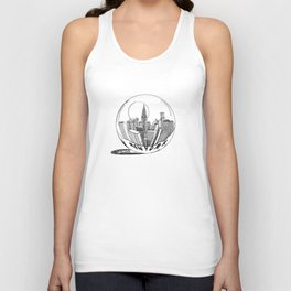 New York in a glass ball . Art . Unisex Tank Top