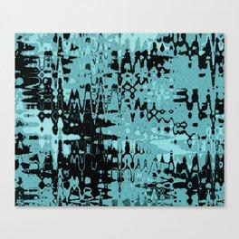 Splash Turquoise Canvas Print