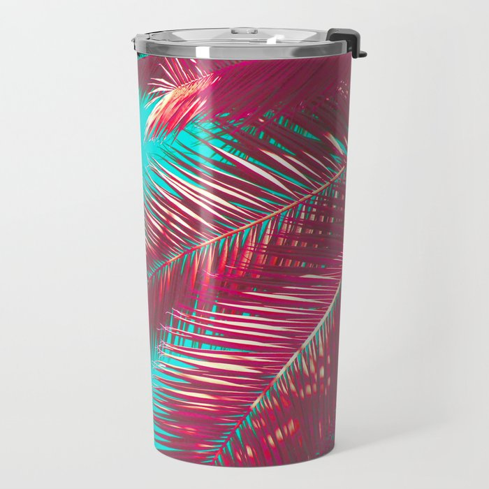 Neon Palm Travel Mug