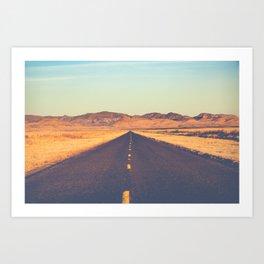 Lost Highway II Art Print