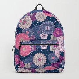 Japanese Neck Gator Japanese Flowers Pattern Backpack