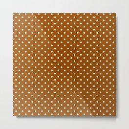 Dots (White/Brown) Metal Print